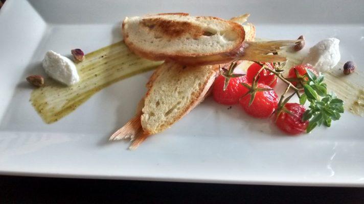 Un piatto realizzato dallo chef Roberto Torregrossa. Che potrete gustare al ristorante ameterra a termini imerese